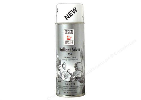 Design Master Brilliant Silver Spray (12 oz)