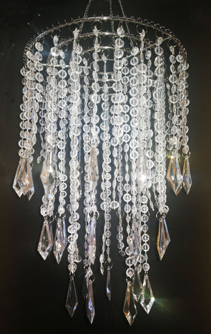 Acrylic Chandelier Centerpiece Clear For Party Decoration