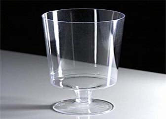 "3.25"" Clear Plastic Dessert Cup (12 Pieces)"