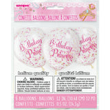 "Confetti Balloons with ""Birthday Princess"" Text (1 Pack)"