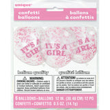 "Confetti Balloons with ""IT'S A GIRL"" Text (1 Pack)"