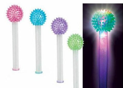 "9"" Cosmic Ray Light Up Wand (12 Assorted Pieces)"