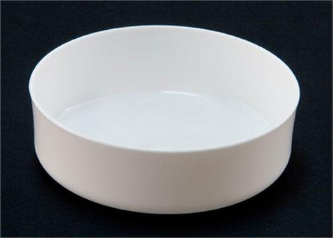 Case of 6'' Plastic Round Tray in White (1 Case = 36 pieces)