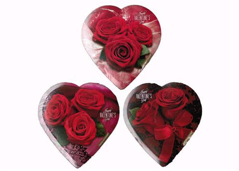 Elmer Valentines Chocolate 1.6 OZ. Heart Shaped Box Rose & Lace (24 boxes)