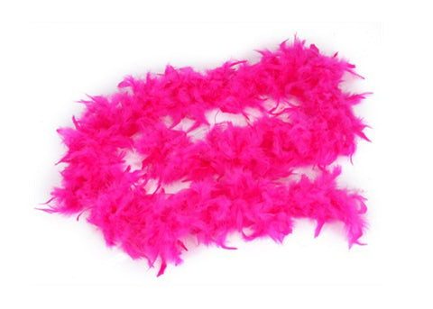 6' Feather Boa Fuchsia