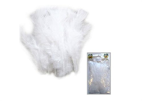4 to 6 Inches White Feather ( 1 Bag of Appx 100 Pcs)