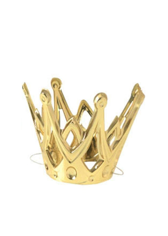 "Gold Party Crowns with Elastic Chin Strap Plastic  4"" x 3.5"""