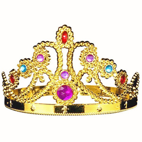 Adjustable Queen Crown Tiara Gold
