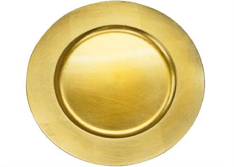 "13"" Gold Charger Plate (12 Pieces)"