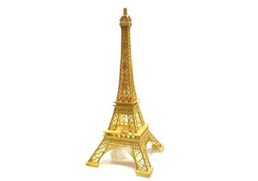 15'' Gold Finish Eiffel Tower - 1 pc