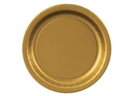 "9"" Gold Paper Plates(16 Pieces)"