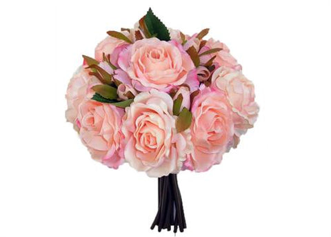 Rose Silk Flower Bouquet Pink