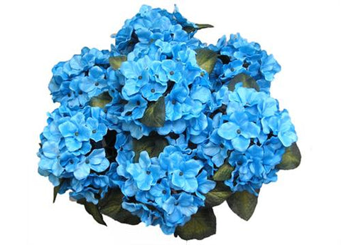 Satin hydrangea silk flower bush 7 heads turquoise 775 satin hydrangea silk flower bush 7 heads turquoise mightylinksfo