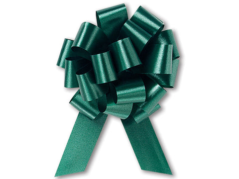 Medium Hunter Green Pull Bow (10 Pieces)