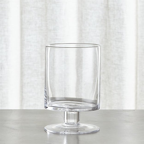 6-5/8 Inch Clear Glass Hurricane Candle Holder