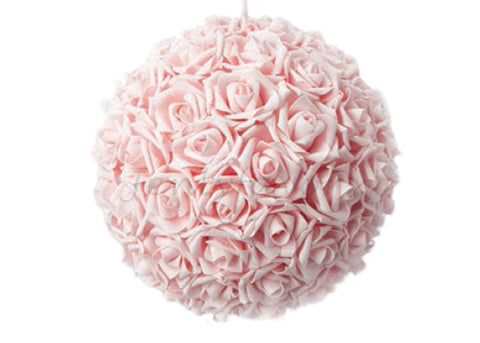 Wedding supplies wholesale wedding centerpieces wedding store miami foam rose pomander flower kissing ball 10 pink mightylinksfo