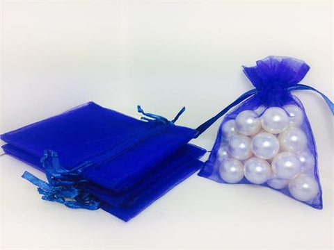 3 X 4 Royal Blue Organza Bags (24 Pieces)