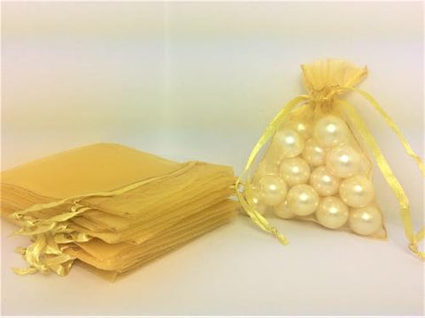 3 X 4 Gold Organza Bags (24 Pieces)