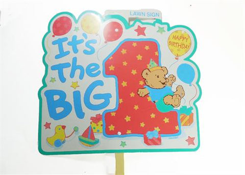 It's The Big 1 Boy Birthday Lawn Sign (6 Pieces)