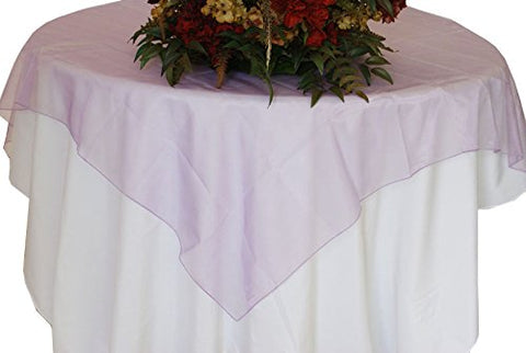 Lavender Organza Table Overlay 80 X 80 Square(1 Piece)