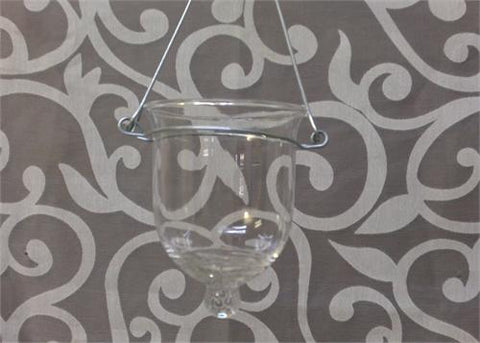 Hanging Votive Glass Candle Holder with Wire / 1 DOZEN