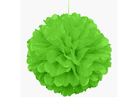 16'' Puff Tissue Paper Balls - LIME GREEN 1 Piece