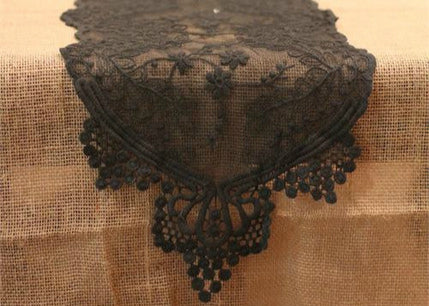 Black Lace Table Runner (1 Piece)