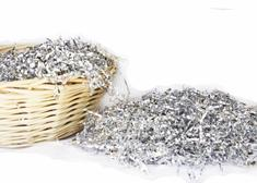 Metallic Silver Shredded Grass ( 8 oz. Bag )