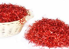 Metallic Red Shredded Grass (8 oz. Bag )