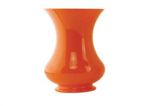 "8 1/2"" Orange Pedestal Vase (1 Piece)"