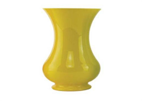 "8 1/2"" Yellow Pedestal Vase (1 Piece)"