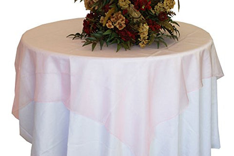 Pink Organza Table Overlay 80 X 80 Square(1 Piece)
