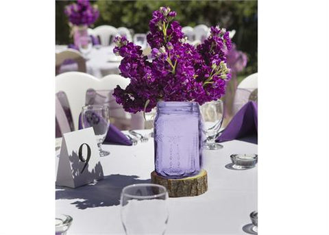 "5 1/2"" Decorative Purple Mason Jar (24 pieces)"