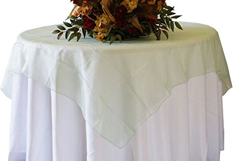 Sage Organza Table Overlay 80 X 80 Square(1 Piece)
