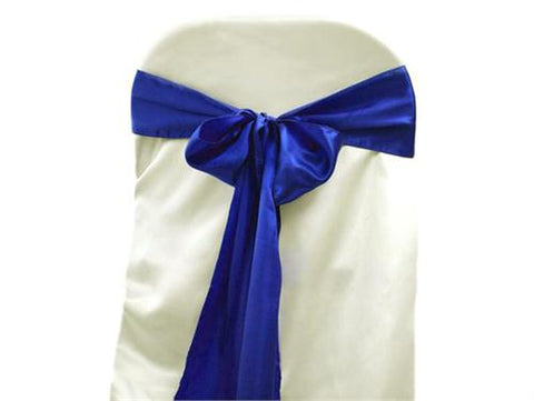 "6"" X 108"" Satin Chair Bow Royal Blue(12 Pieces)"