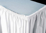 White Plastic Table Skirt (1 Piece)