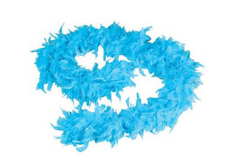 6' Feather Boa Turquoise