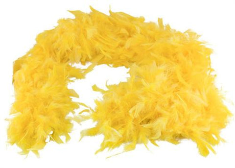 6' Feather Boa Yellow