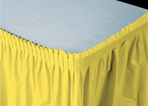 Yellow Plastic Table Skirt (1 Piece)