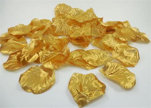 Silk Rose Petals Gold (1800PCS)