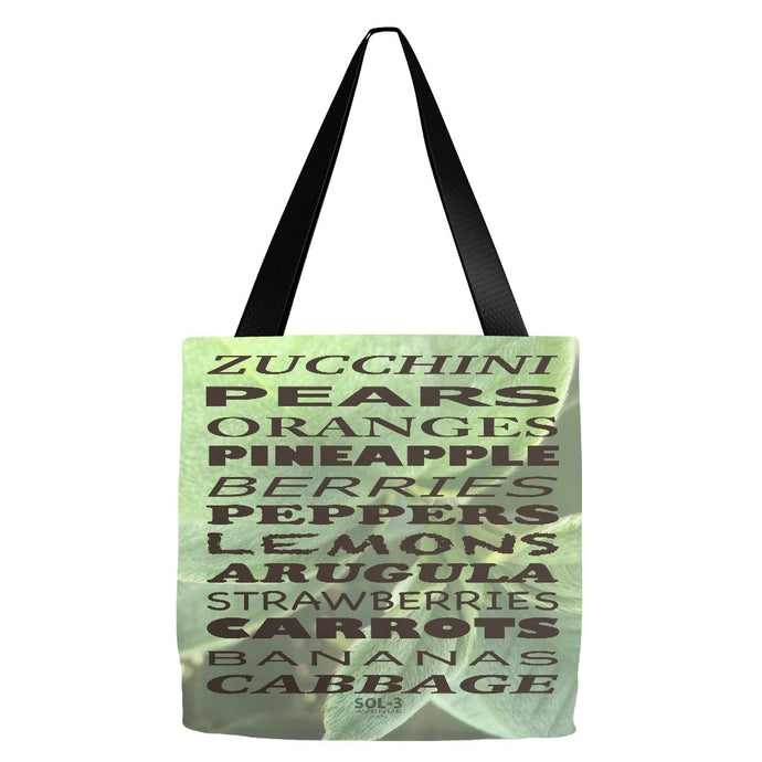 Grocery List Large Tote by SOL-3 Avenue