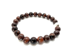 Red Tiger Eye Natural Stone Bracelet