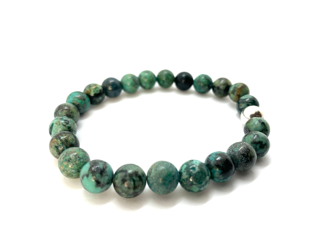 African Turquoise Natural Stone Bracelet