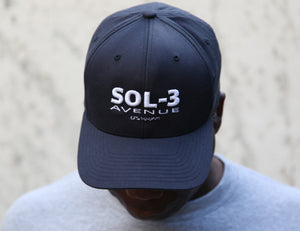 Sol-3 Avenue Logo Navy Cap Large/XL Size