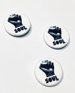 Soul Fist Round Button
