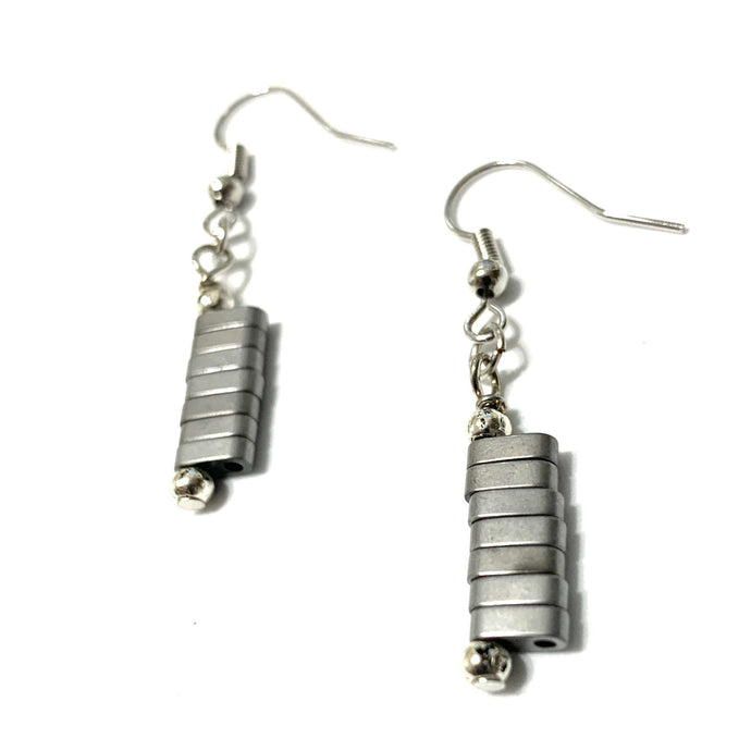 Hematite Stack Earrings