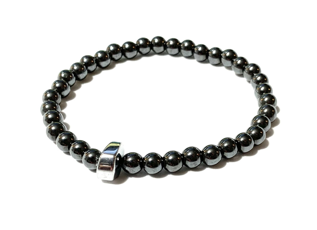 Hematite Bracelet with Small 6mm Beads