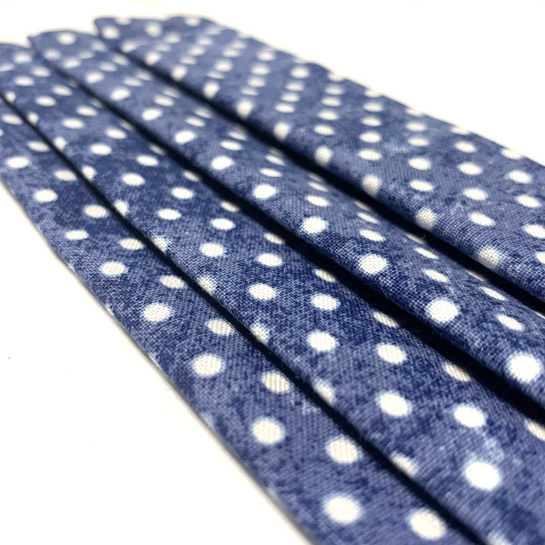 Denim Inspired Polka Dot Mask