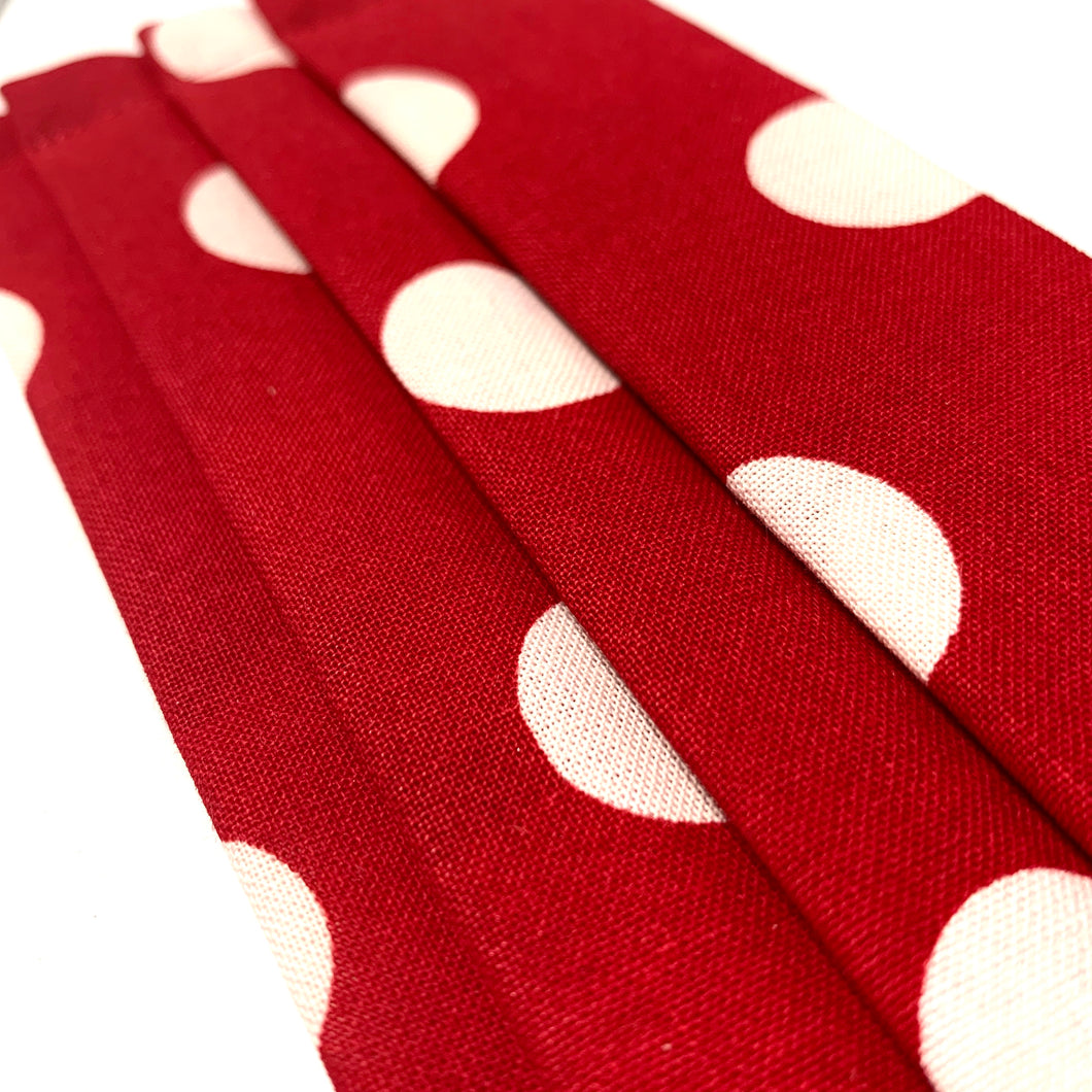 Red and White Polka Dot Mask