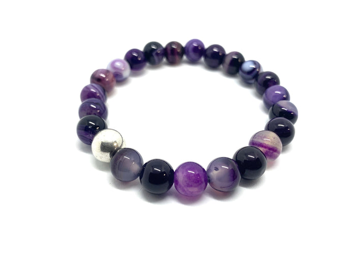 Purple Agate Natural Stone Bracelet
